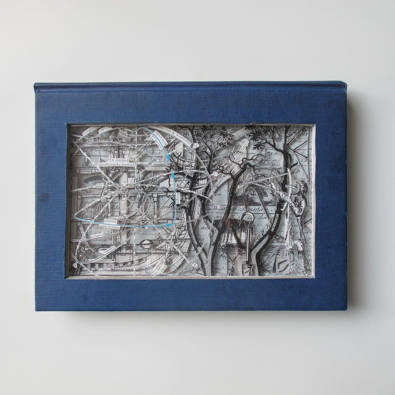 Oscar Peeze Binkhorst is een kunstenaar uit Roermond, Roerdalen, Limburg, Midden-Limburg. Hij maakt sculpturen, kunstwerken van oude versleten boeken. Commissies, opdrachten, kunst op opdracht, neemt hij graag aan. Kunstwerken kunt u hier ooit kopen. Kom naar zijn tentoonstellingen, exhibities. Kunstzinnig maakt hij kunst voor aan de muur, lijkt op schilderijen. Het is moderne, hedendaagse, originele kunst. Dit is een kunstwerk, sculptuur dat lijkt op een schilderij. Je ziet delen van schepen, een schip, een boom, een boei, scheepvaart en de zee